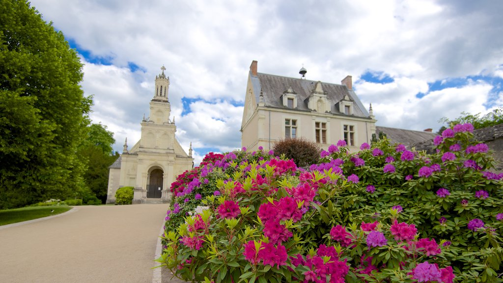 Chateau de Chambord which includes flowers