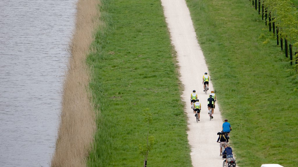Chateau de Chambord which includes cycling as well as a small group of people
