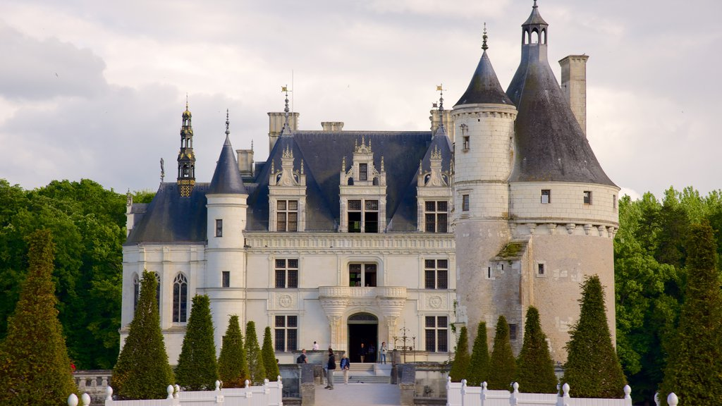 Chateau de Chenonceau showing chateau or palace and heritage architecture