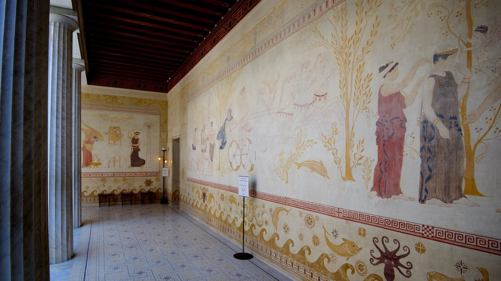 Villa Kerylos which includes art and interior views