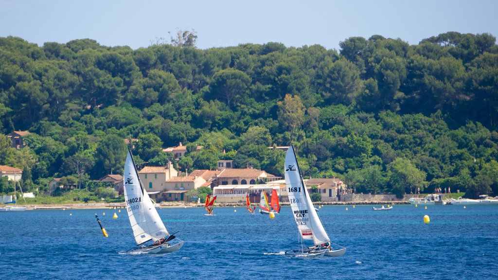 Cannes featuring a bay or harbor and sailing