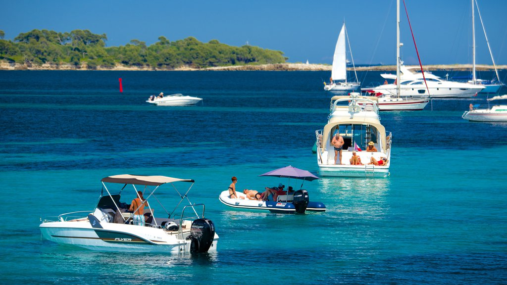 Ile Saint-Honorat featuring boating, sailing and a bay or harbor