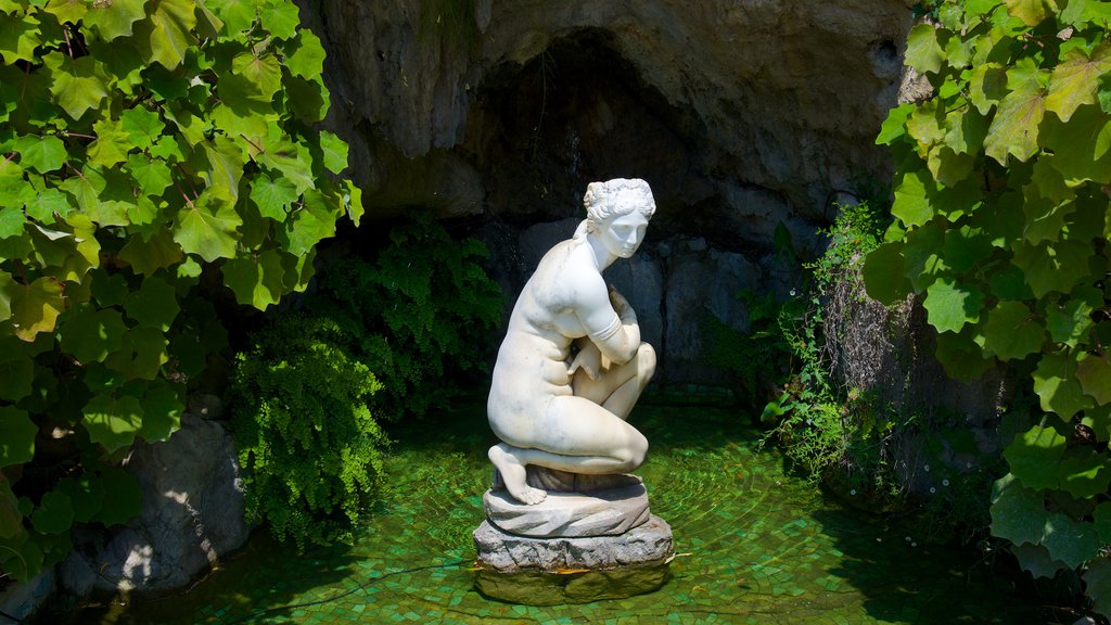 Villa Ephrussi showing a statue or sculpture