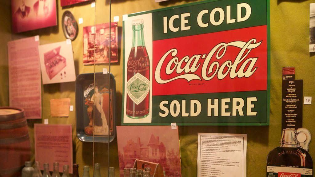 Biedenharn Coca-Cola Museum featuring interior views