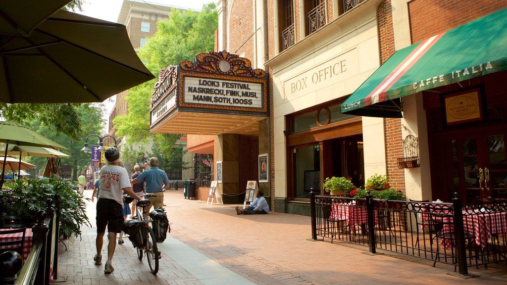 Charlottesville which includes heritage elements, theater scenes and street scenes