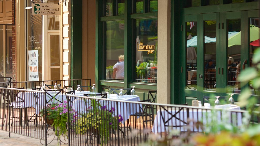 Charlottesville showing cafe scenes and outdoor eating