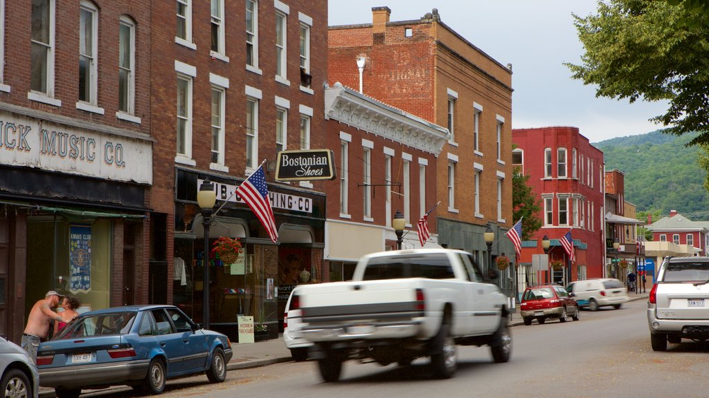 Hinton showing street scenes, a city and heritage elements