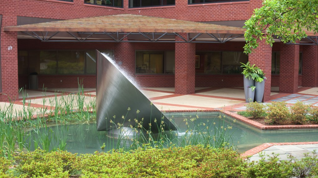 Bethesda, MD showing a pond and a fountain