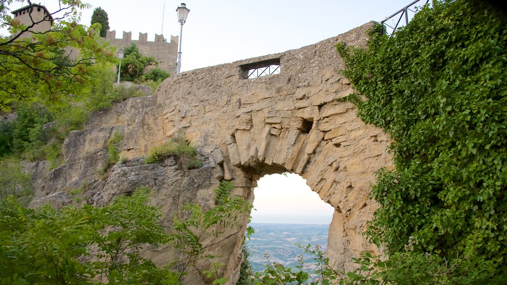 San Marino featuring a bridge and a castle