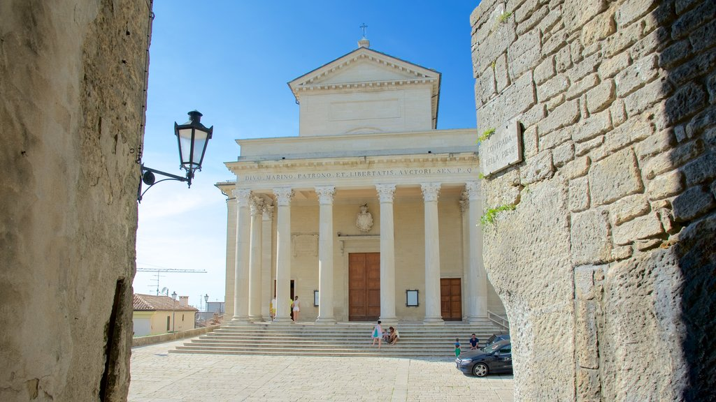 Basilica of Saint Marino featuring a church or cathedral and heritage architecture