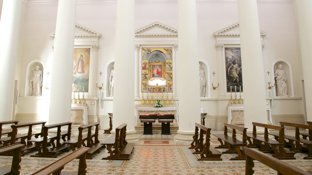 Basilica of Saint Marino showing art, religious elements and a church or cathedral