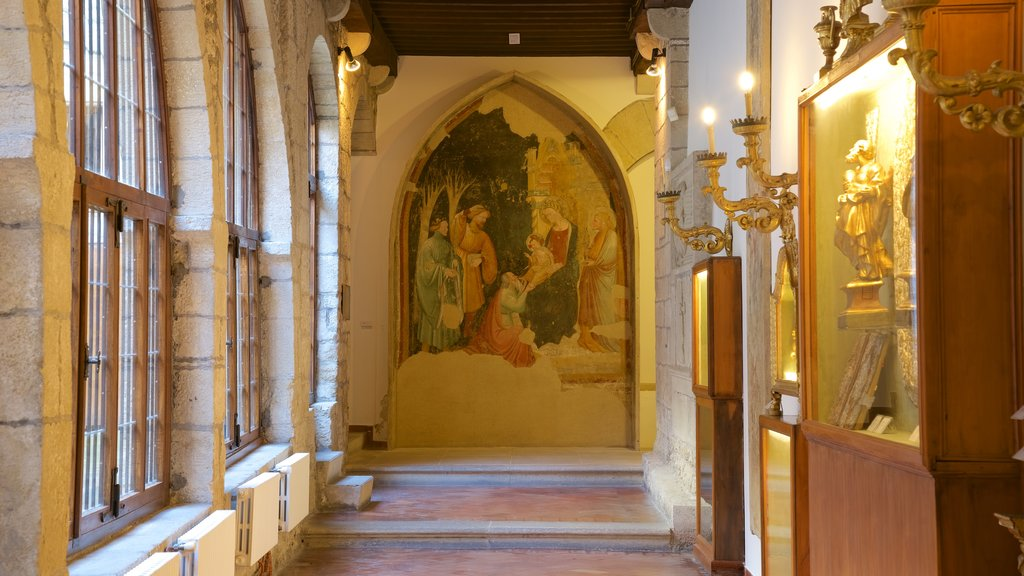 San Marino which includes art and interior views