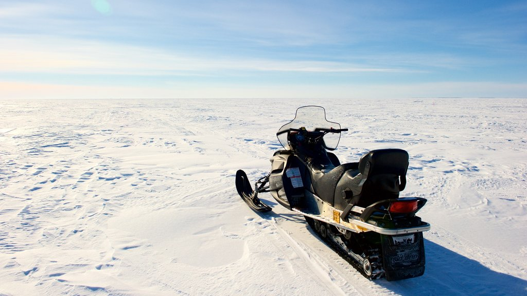 Kemi featuring snow, landscape views and snowmobiling