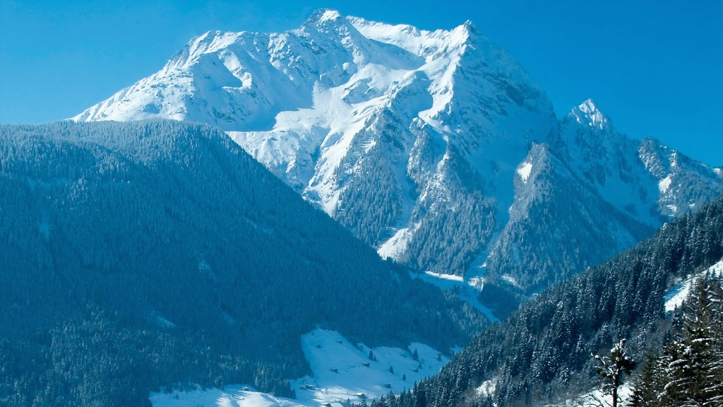 Hintertux Glacier Ski Resort which includes snow and mountains