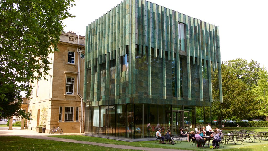 The Holburne Museum showing modern architecture and cafe scenes