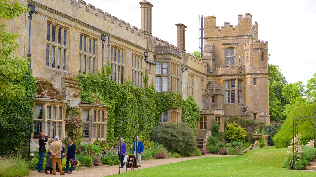 Sudeley Castle which includes chateau or palace, a park and heritage architecture