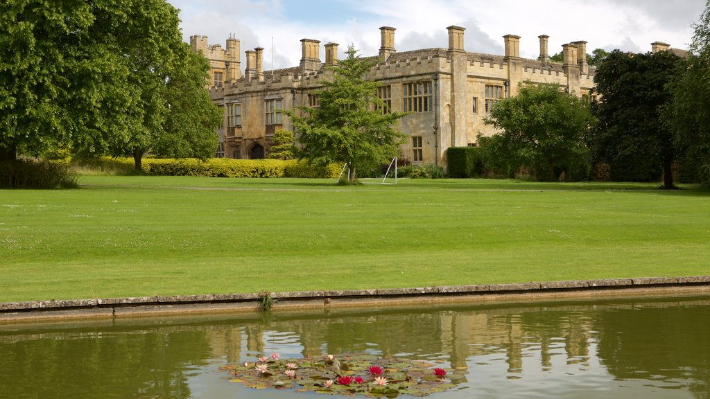 Sudeley Castle which includes a castle, a river or creek and a park