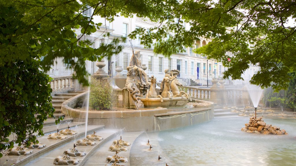 Cheltenham which includes a statue or sculpture, heritage architecture and chateau or palace
