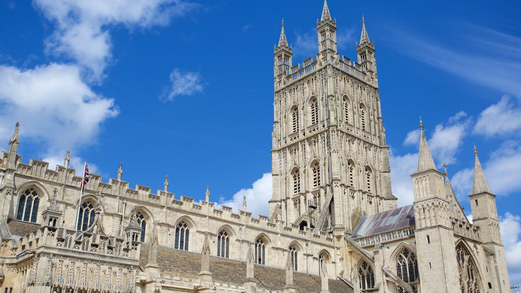Gloucester Cathedral showing heritage architecture and a church or cathedral