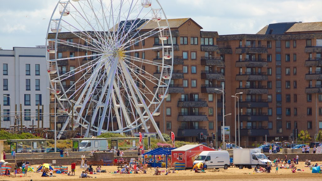Weston-super-Mare featuring a festival, a coastal town and rides
