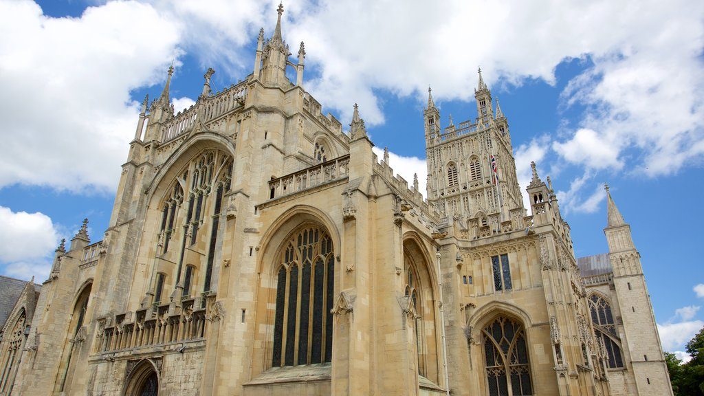 Gloucester Cathedral featuring a church or cathedral and heritage architecture