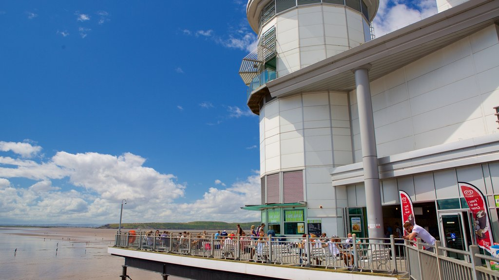 The Grand Pier showing views and general coastal views
