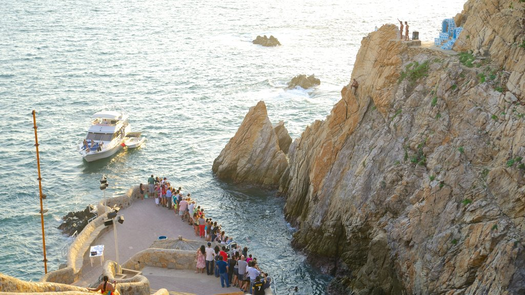 La Quebrada Cliffs which includes views, a gorge or canyon and boating