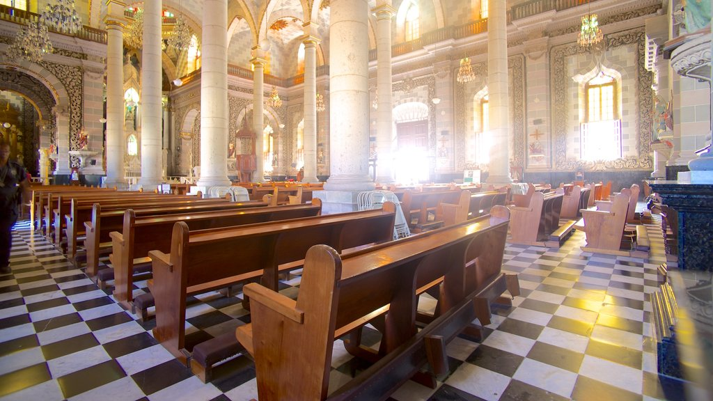 Immaculate Conception Cathedral which includes interior views, religious aspects and a church or cathedral