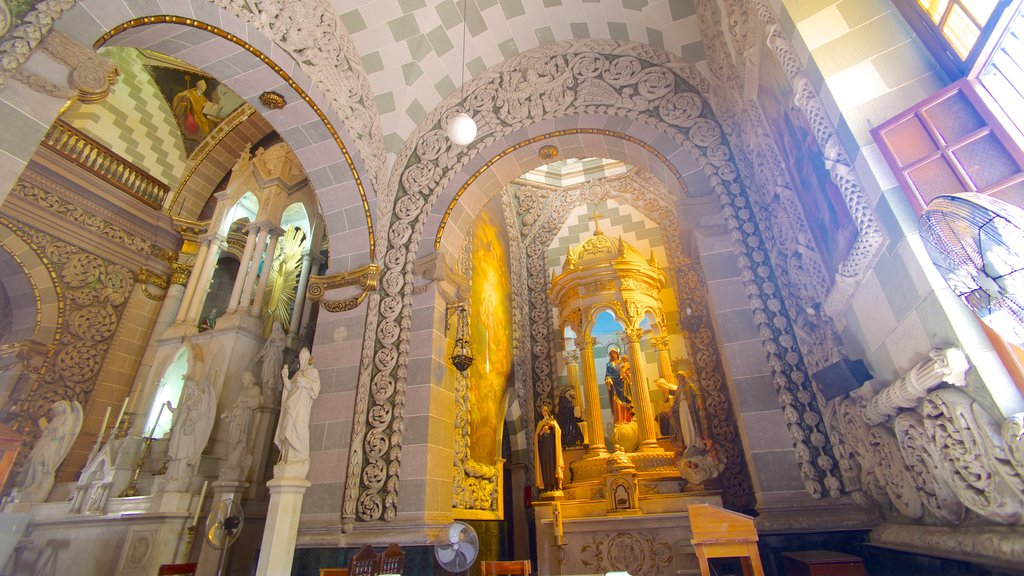 Immaculate Conception Cathedral featuring a statue or sculpture, interior views and heritage architecture