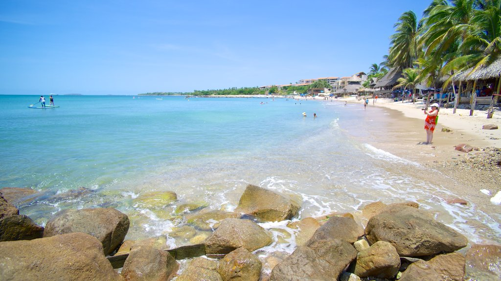 South Coast Nayarit showing tropical scenes, rocky coastline and a beach