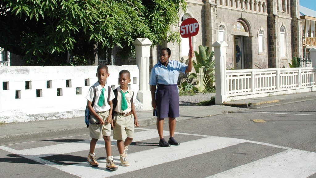 Basseterre as well as a small group of people