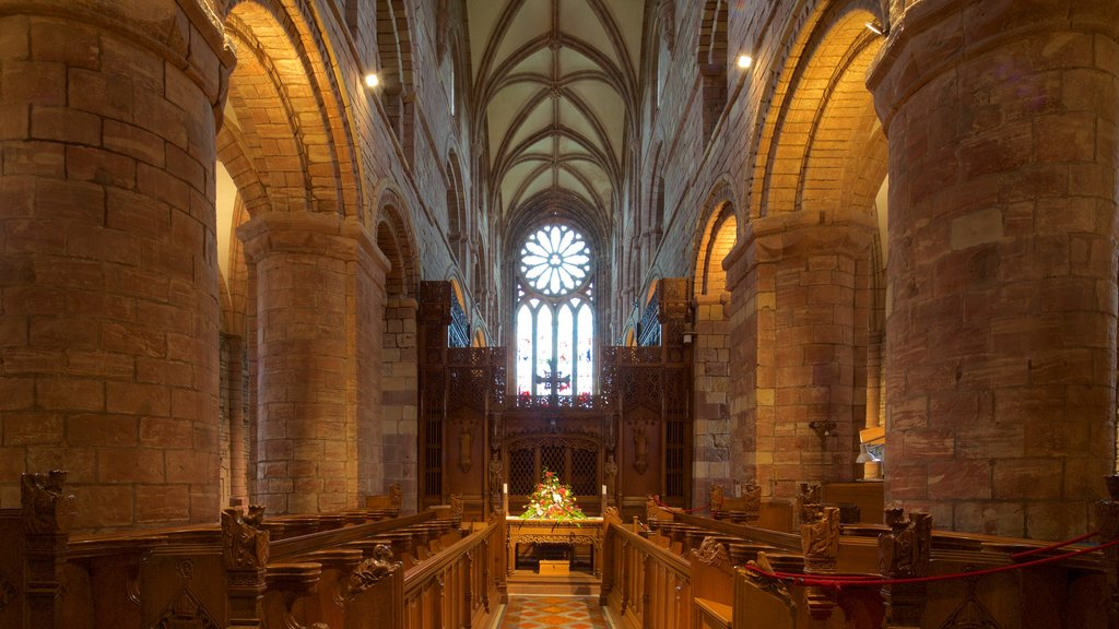 St. Magnus Cathedral featuring heritage architecture, interior views and heritage elements