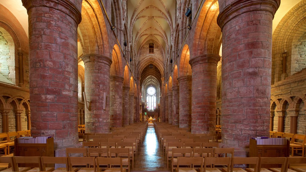 St. Magnus Cathedral showing interior views, heritage elements and heritage architecture