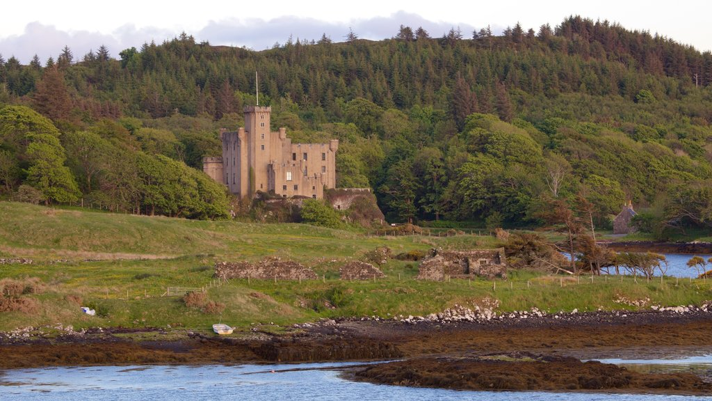 Dunvegan Castle which includes a castle, a festival and tranquil scenes