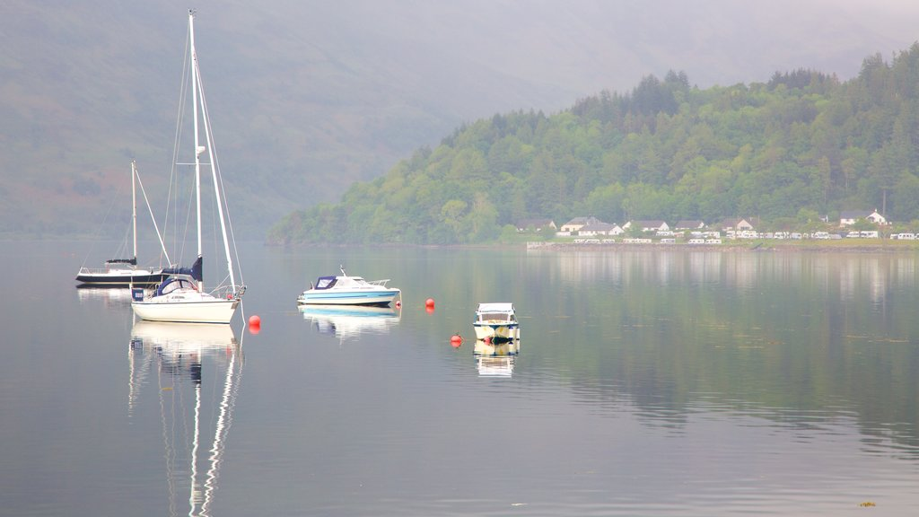 Glencoe which includes sailing, a lake or waterhole and boating
