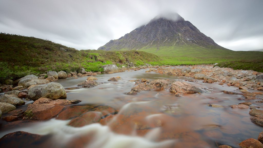 Glencoe featuring tranquil scenes, a river or creek and mountains
