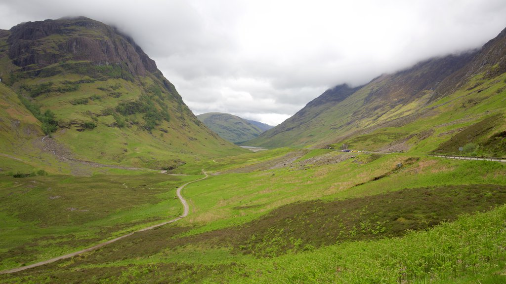 Glencoe which includes tranquil scenes and mountains