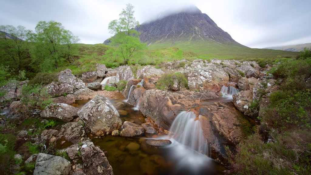 Glencoe which includes tranquil scenes and a river or creek