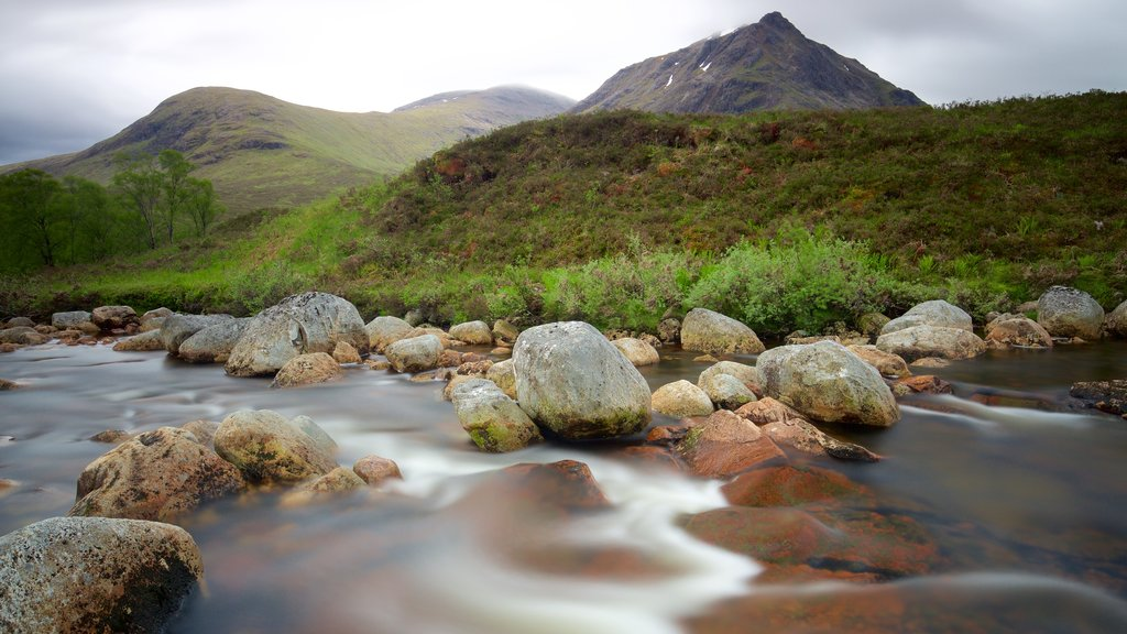 Glencoe showing tranquil scenes and a river or creek