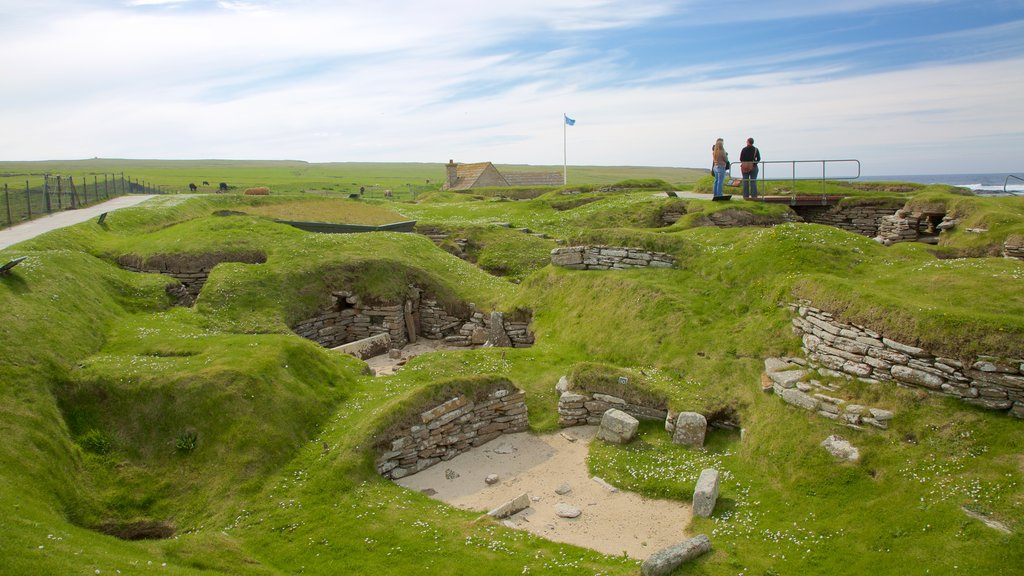 Skara Brae featuring heritage architecture, tranquil scenes and heritage elements