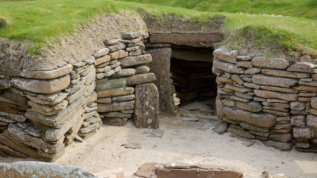 Skara Brae featuring heritage elements, a house and heritage architecture