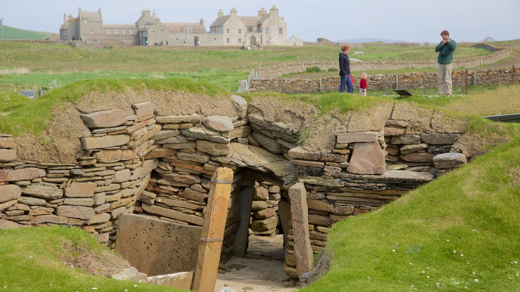 Skara Brae showing heritage elements, heritage architecture and tranquil scenes