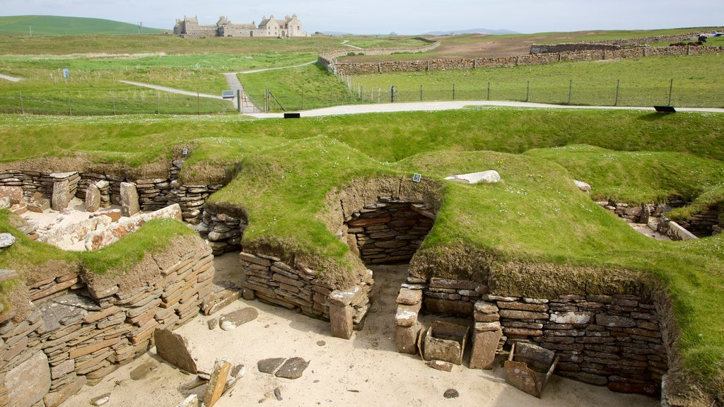 Skara Brae featuring tranquil scenes, heritage elements and a house