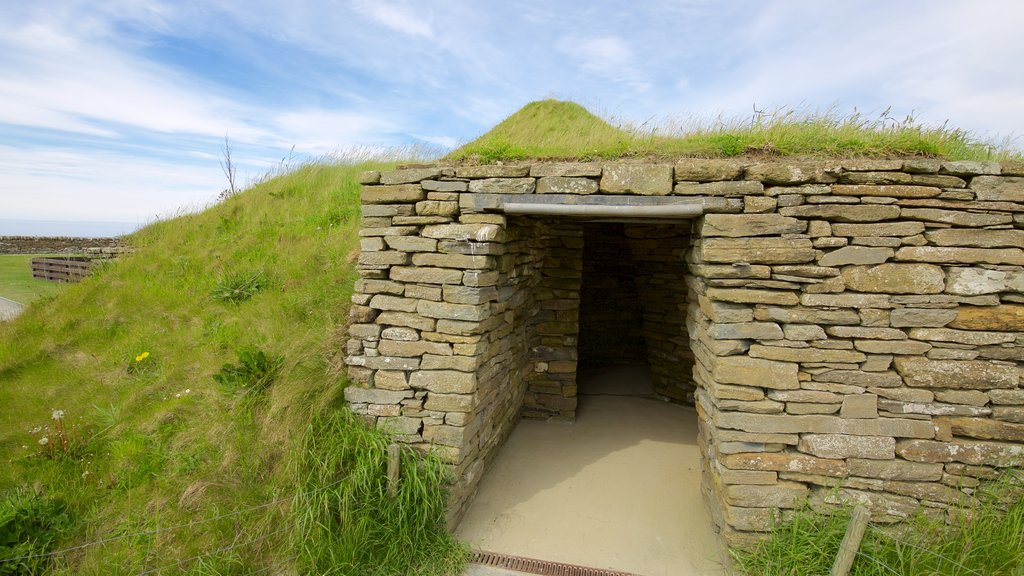 Skara Brae featuring heritage elements, heritage architecture and a house