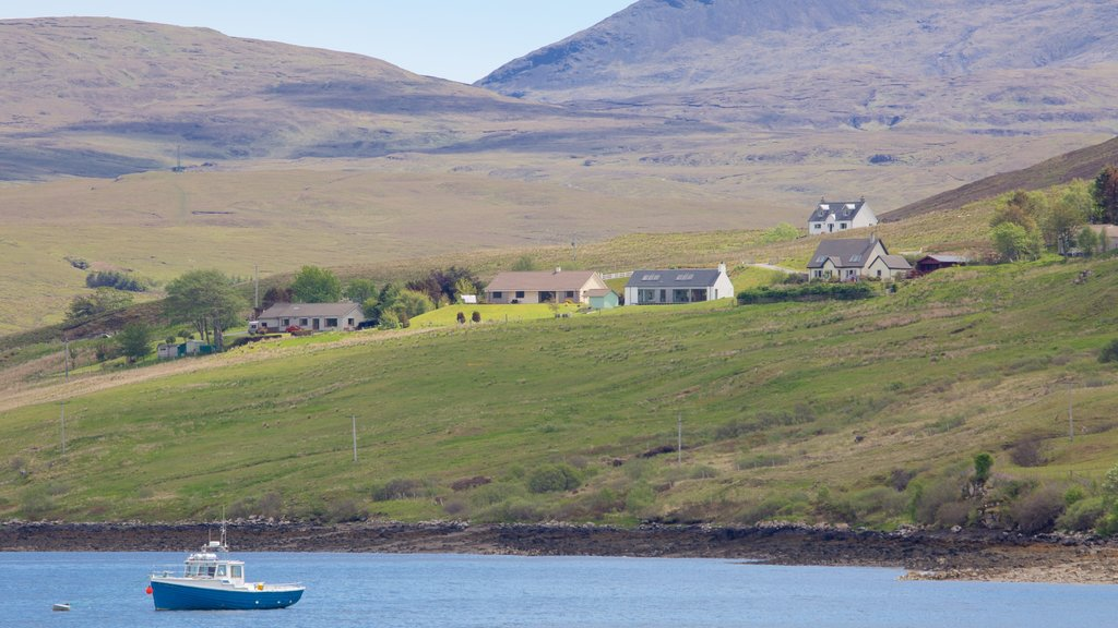 Talisker Distillery featuring tranquil scenes, a lake or waterhole and boating