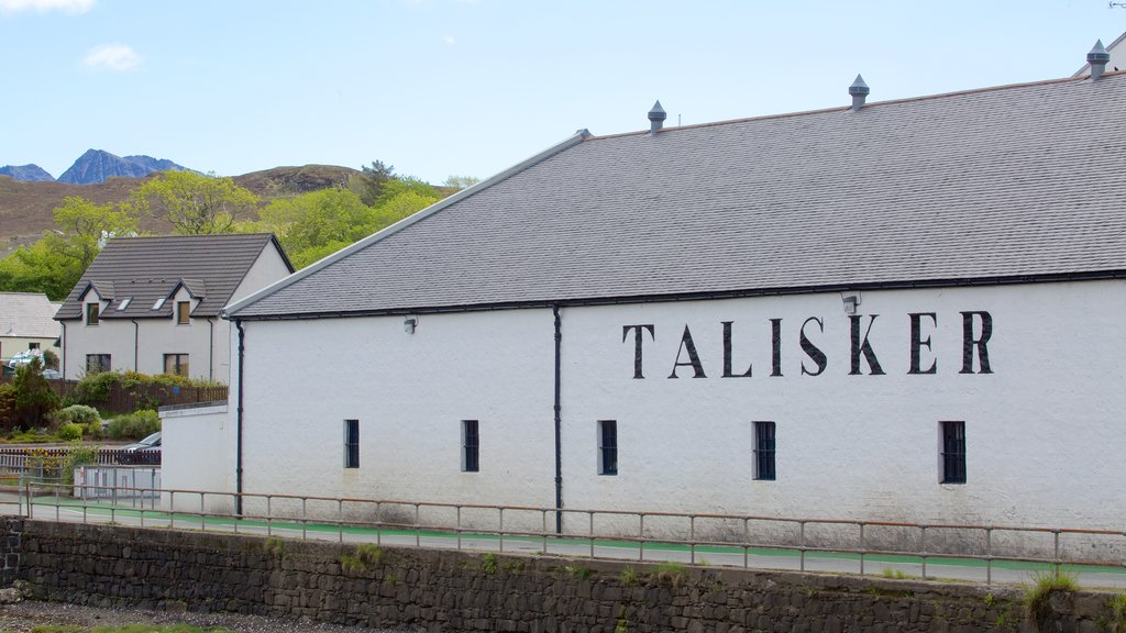 Talisker Distillery which includes heritage elements