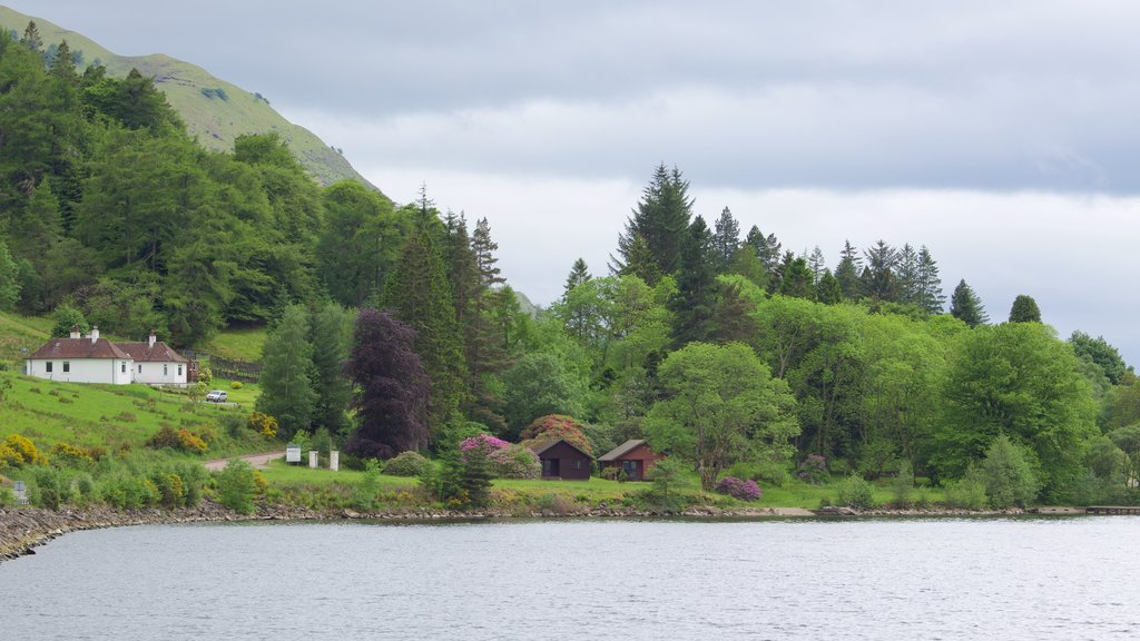 Fort William showing a lake or waterhole, a house and tranquil scenes