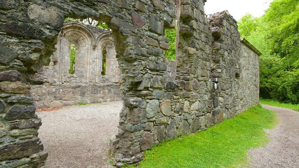 Dunstaffnage Castle and Chapel featuring heritage elements, chateau or palace and building ruins