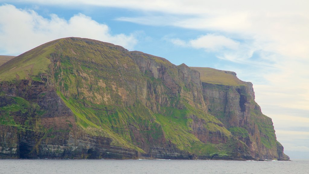 St. John\'s Head showing mountains and rocky coastline