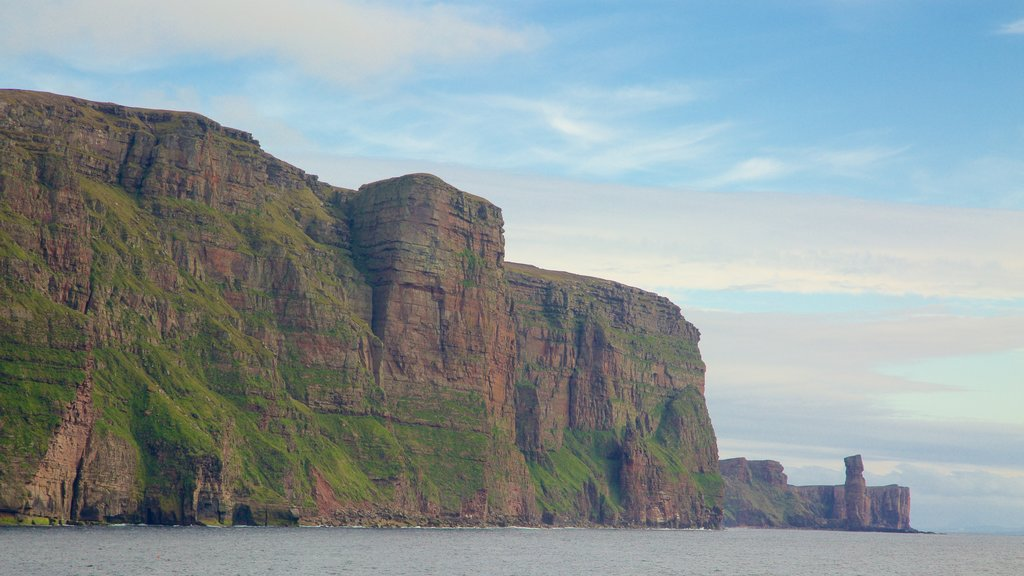 St. John\'s Head featuring mountains and rugged coastline